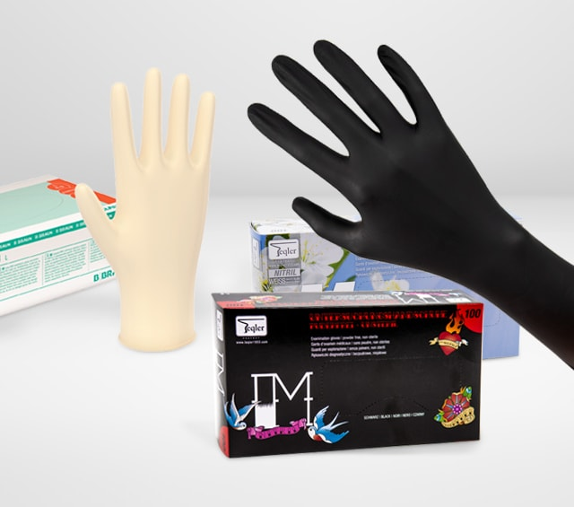 Examination Gloves for Treatment in the Surgery, Practice & Hospital