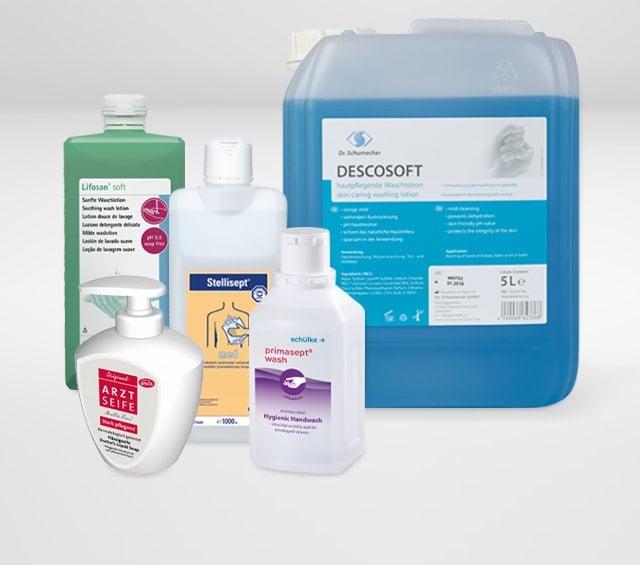 Emulsje myjące i mydła medyczne