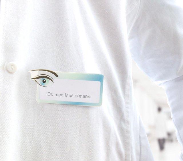 Badges porte-nom pour médecin ou infirmière