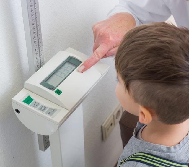 Messung des Körpergewichts mit Personenwaagen