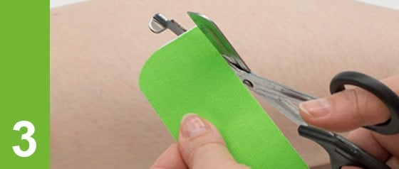 Kinesiologie Taping Tipps: Ecken abrunden
