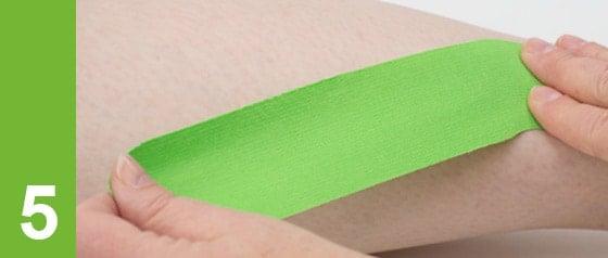 Kinesiologie Taping Tipps: Anker nicht unter Zug aufbringen