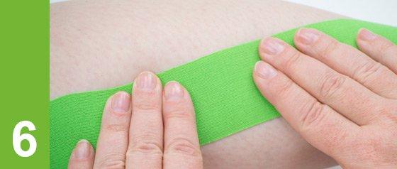 Conseils de taping kinésiologique: activer l'adhésif