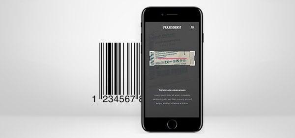 App mit Barcode