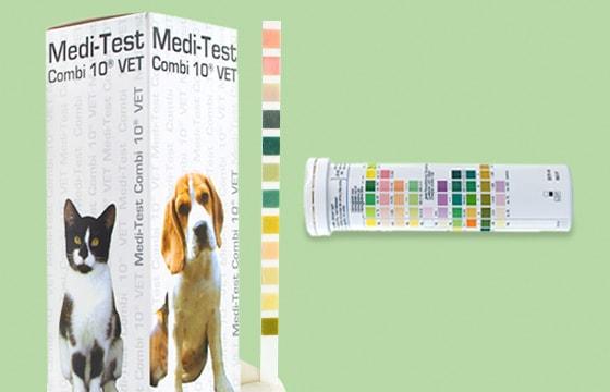 Tiras reactivas Medi-Test Combi 10 VET